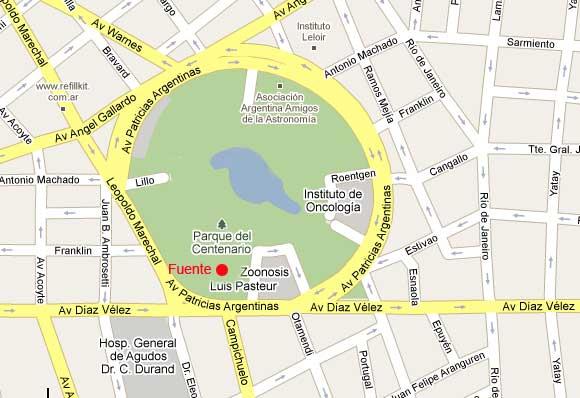 plano centenario 2 Parque Centenario